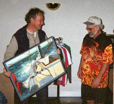Zane presenting Tom Wylie with